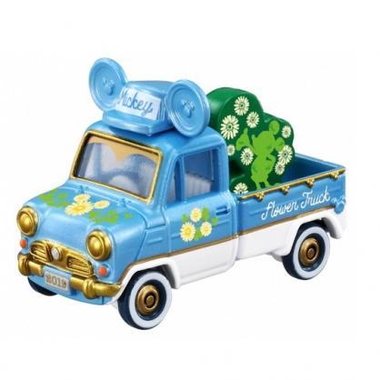 小禮堂 迪士尼 米奇 TOMICA多美小汽車 造型小貨車 玩具車 模型車 (藍綠)