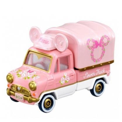 小禮堂 迪士尼 米妮 TOMICA多美小汽車 造型小貨車 玩具車 模型車 (粉)