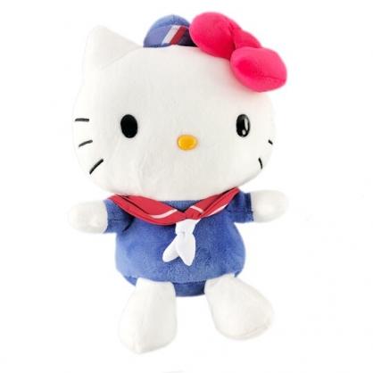 小禮堂 Hello Kitty 絨毛 玩偶 娃娃 布偶 (M 藍白 海軍服)