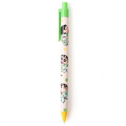 小禮堂 蠟筆小新 自動鉛筆 自動筆 0.5mm (綠黃 睡衣)