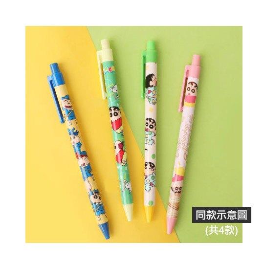 小禮堂 蠟筆小新 自動鉛筆 自動筆 0.5mm (綠黃 跳格子)