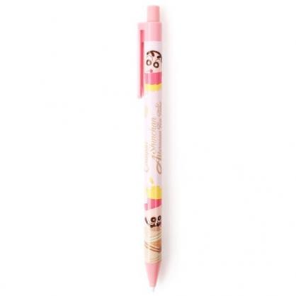 小禮堂 蠟筆小新 自動鉛筆 自動筆 0.5mm (粉 餅乾)