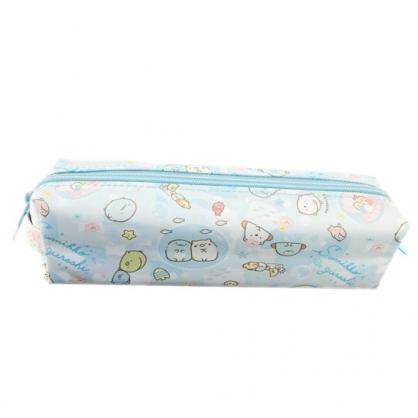 小禮堂 角落生物 尼龍拉鍊筆袋 鉛筆盒 鉛筆袋 (藍 貝殼)