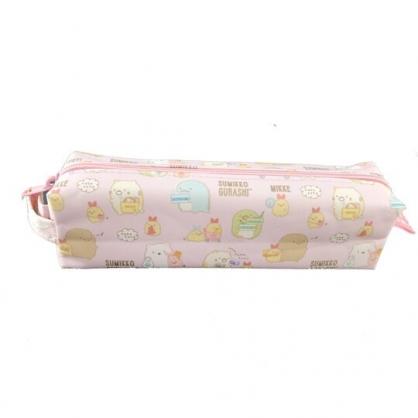 小禮堂 角落生物 尼龍拉鍊筆袋 鉛筆盒 鉛筆袋 (粉 購物)