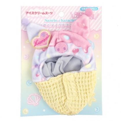 小禮堂 酷洛米 換裝娃娃冰淇淋睡袋 布偶睡袋 玩偶配件 (棕紫 熱帶沙灘)