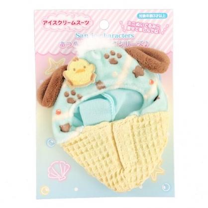 小禮堂 帕恰狗 換裝娃娃冰淇淋睡袋 布偶睡袋 玩偶配件 (棕綠 熱帶沙灘)
