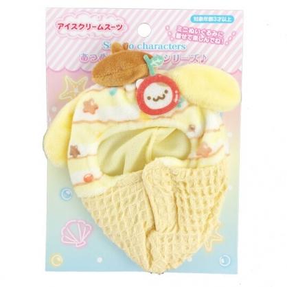 小禮堂 布丁狗 換裝娃娃冰淇淋睡袋 布偶睡袋 玩偶配件 (棕黃 熱帶沙灘)