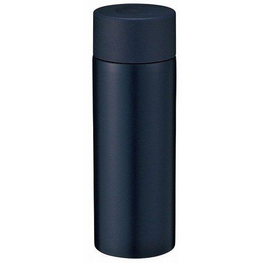 小禮堂 迷你旋轉蓋保溫瓶毛巾組 隨身水壺 手帕 毛巾禮盒 120ml (棕黑盒裝)