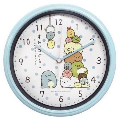 小禮堂 角落生物 圓形壁掛鐘 壁鐘 時鐘 (藍 夾娃娃)