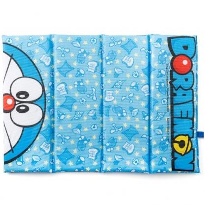 小禮堂 哆啦A夢 方形攜帶式折疊坐墊 野餐墊 海灘墊 35x26cm (藍 半臉)