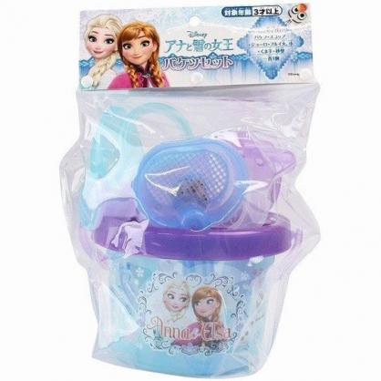 小禮堂 迪士尼 冰雪奇緣 手提挖沙玩具組 沙灘玩具 澆水器 玩具鏟 (藍紫 對看)