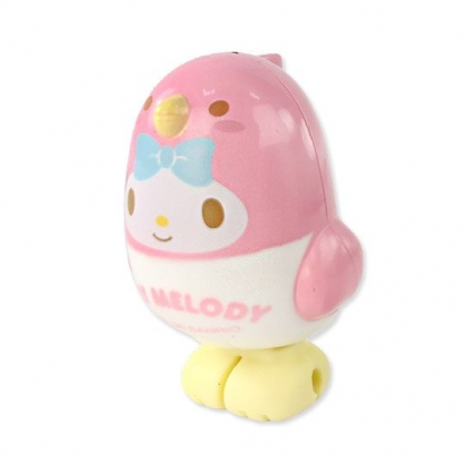 小禮堂 美樂蒂 小鳥造型傳輸線保護套 iPhone線套 USB線套 充電線套 (粉白)