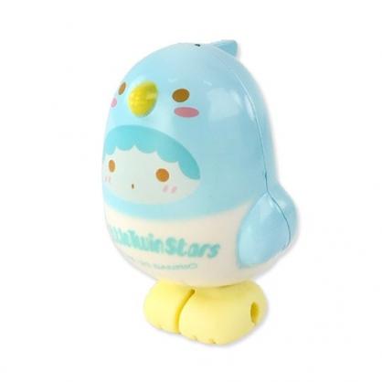 小禮堂 雙子星KIKI 小鳥造型傳輸線保護套 iPhone線套 USB線套 充電線套 (藍白)