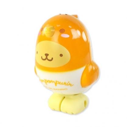 小禮堂 布丁狗 小鳥造型傳輸線保護套 iPhone線套 USB線套 充電線套 (黃橘)