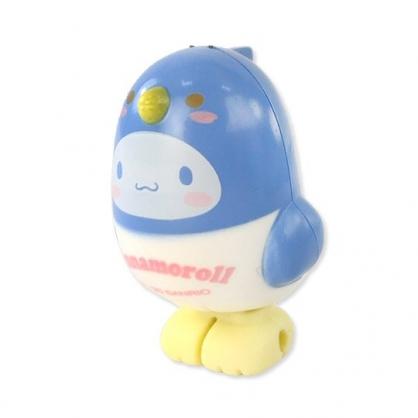 小禮堂 大耳狗 小鳥造型傳輸線保護套 iPhone線套 USB線套 充電線套 (藍白)