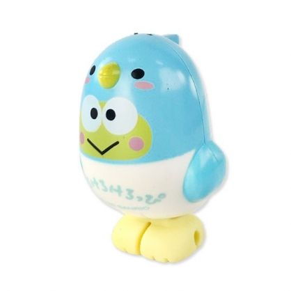 小禮堂 大眼蛙 小鳥造型傳輸線保護套 iPhone線套 USB線套 充電線套 (綠白)