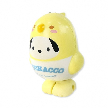 小禮堂 帕恰狗 小鳥造型傳輸線保護套 iPhone線套 USB線套 充電線套 (黃白)