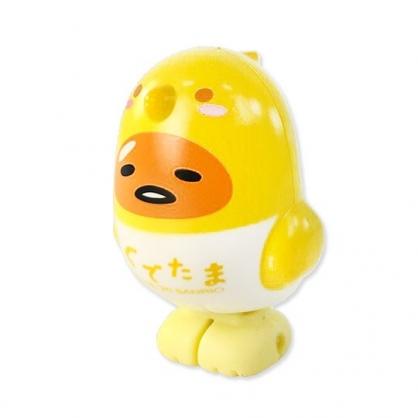 小禮堂 蛋黃哥 小鳥造型傳輸線保護套 iPhone線套 USB線套 充電線套 (黃白)
