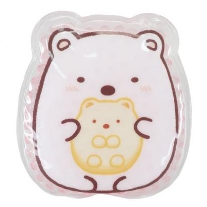 小禮堂 角落生物 北極熊 造型透明果凍顆粒保冷劑 保冰劑 冰敷袋 (粉 坐姿)