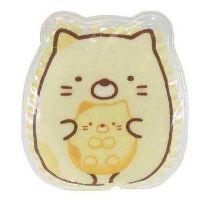 小禮堂 角落生物 貓咪 造型透明果凍顆粒保冷劑 保冰劑 冰敷袋 (黃 坐姿)