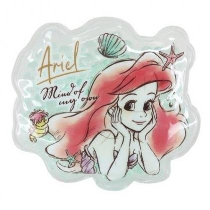 小禮堂 迪士尼 小美人魚 造型透明果凍顆粒保冷劑 保冰劑 冰敷袋 (綠 摸臉)