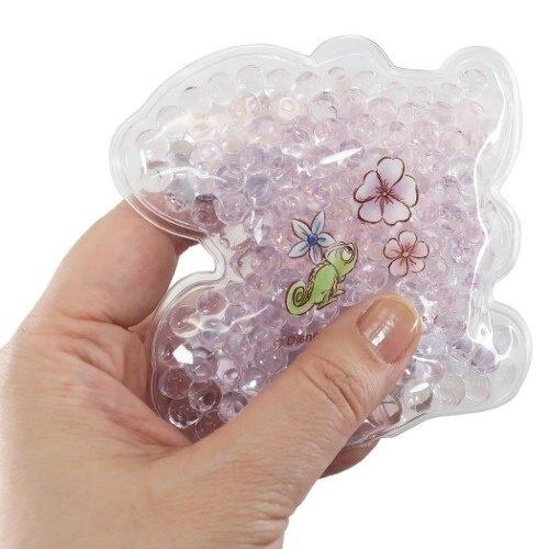 小禮堂 迪士尼 長髮公主 造型透明果凍顆粒保冷劑 保冰劑 冰敷袋 (紫 閉眼)