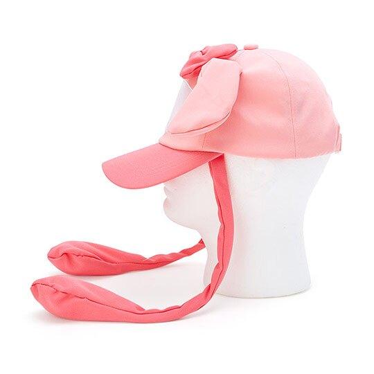 小禮堂 美樂蒂 造型耳朵動動玩偶帽 兔耳帽 鴨舌帽 老帽 遮陽帽 (粉白 大臉)