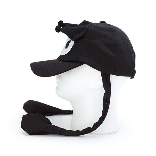 小禮堂 酷洛米 造型耳朵動動玩偶帽 兔耳帽 鴨舌帽 老帽 遮陽帽 (黑白 大臉)