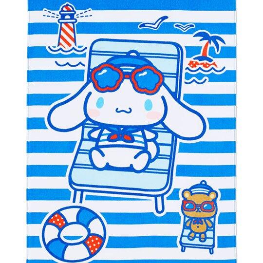 小禮堂 大耳狗 純棉割絨浴巾 純棉浴巾 身體毛巾 80x160cm (藍白 活力海軍)