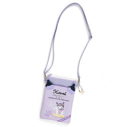 小禮堂 酷洛米 直式皮質斜背手機包 皮質斜背包 隨身背包 (紫 寶寶回憶)