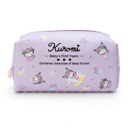小禮堂 酷洛米 皮質拉鍊筆袋 皮質化妝包 鉛筆袋 鉛筆盒 (紫 寶寶回憶)