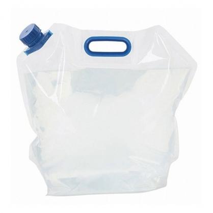 小禮堂 手提透明10公升儲水袋 裝水袋 戶外取水袋 防災取水袋 (藍蓋)
