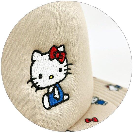 小禮堂 Hello Kitty 棒球帽 鴨舌帽 遮陽帽 網帽 休閒帽 (米 滿版)