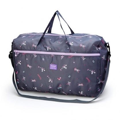 小禮堂 酷洛米 折疊尼龍拉桿行李袋 手提旅行袋 側背行李袋 (紫 滿版)
