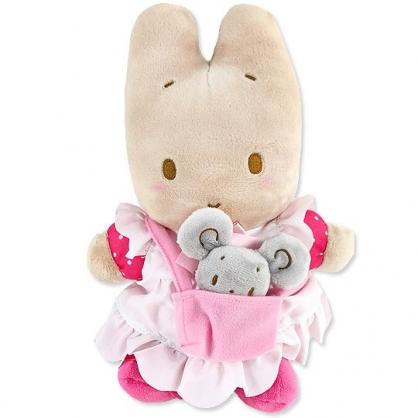 小禮堂 兔媽媽 絨毛玩偶 絨毛娃娃 布偶 (M 粉米 子母娃娃)