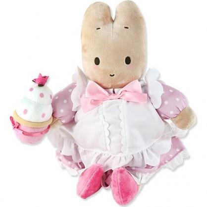 小禮堂 兔媽媽 絨毛玩偶 絨毛娃娃 布偶 (L 粉白洋裝)
