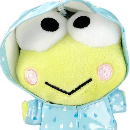 小禮堂 大眼娃 絨毛吊飾 玩偶吊飾 玩偶鑰匙圈  (綠藍 雨衣)