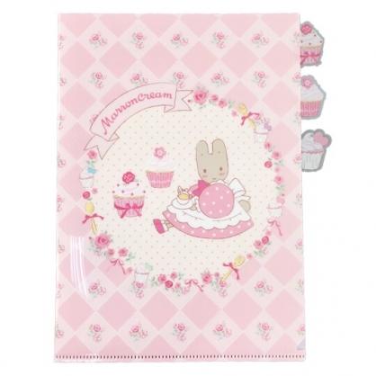 小禮堂 兔媽媽  A4分類文件夾 資料夾 檔案夾 L夾 (粉 杯子蛋糕)