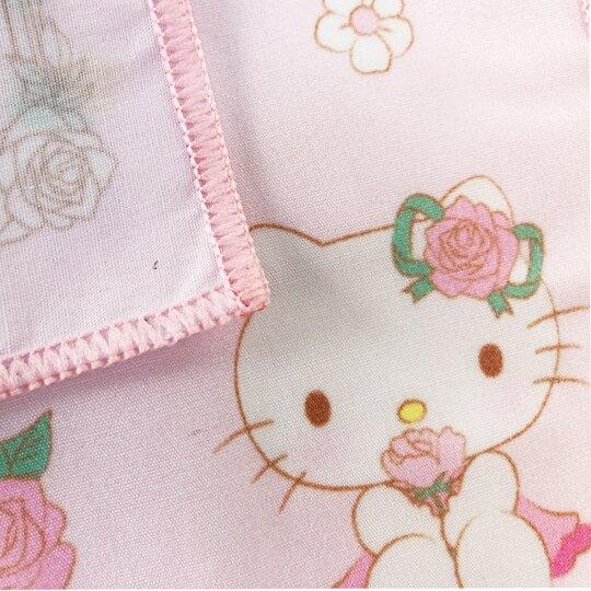 小禮堂 Hello Ktity 純棉紗布方巾 手帕 小毛巾 25x25cm (粉 玫瑰)