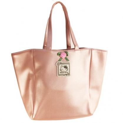 小禮堂 Hello Kitty 皮質側背包 皮質手提包 側背袋 (粉 玫瑰)