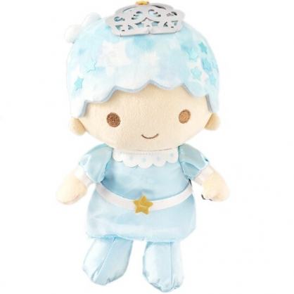 小禮堂 雙子星KIKI 絨毛玩偶 絨毛娃娃 布偶 (M 藍 45週年)