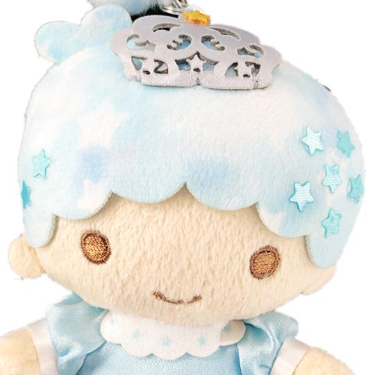 小禮堂 雙子星KIKI 絨毛吊飾 玩偶吊飾 玩偶鑰匙圈  (藍 45週年)