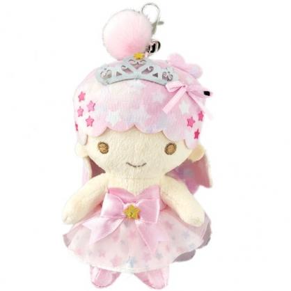小禮堂 雙子星LALA 絨毛吊飾 玩偶吊飾 玩偶鑰匙圈  (粉 45週年)