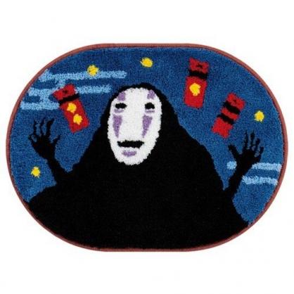 小禮堂 宮崎駿 神隱少女 橢圓形吸水腳踏墊 浴室地墊 吸水地墊 48x65cm (藍黑 無臉男)