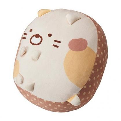 小禮堂 角落生物 貓咪 造型絨毛抱枕 絨毛靠枕 玩偶 娃娃 (黃 坐姿)