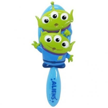 小禮堂 迪士尼 三眼怪 造型塑膠手握梳 直梳 塑膠梳 (綠藍 兩隻)