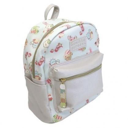 小禮堂 角落生物 皮質後背包 雙肩背包 休閒背包 (綠紅 草莓)