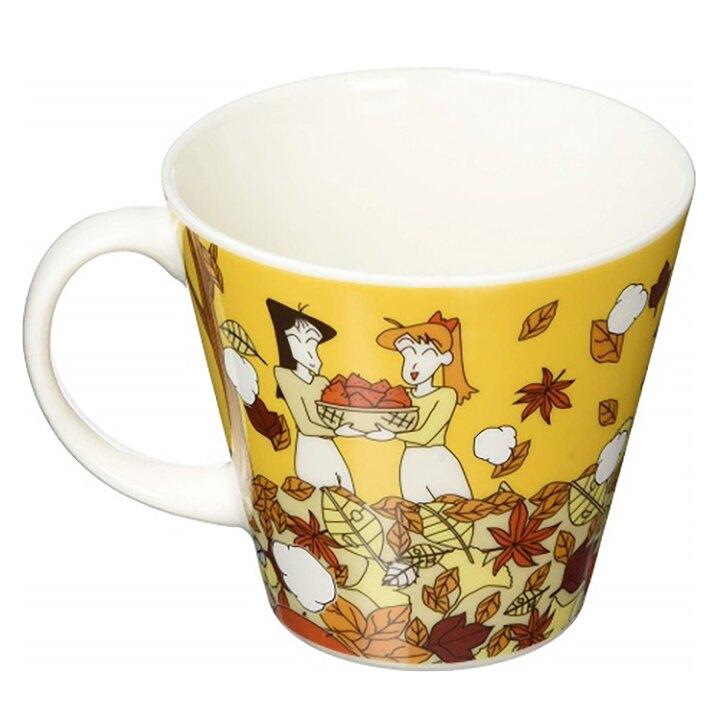 小禮堂 蠟筆小新 陶瓷馬克杯 咖啡杯 陶瓷杯 寬口杯 340ml YAMAKA陶瓷 (棕 烤地瓜)