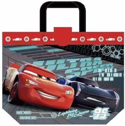 小禮堂 迪士尼 閃電麥坤 透明海灘袋 水桶袋 防水提袋 泳具袋 (灰紅 兩台)