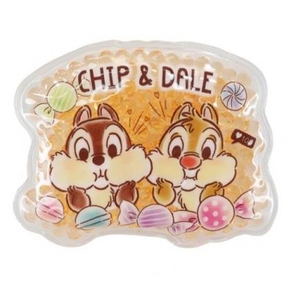 小禮堂 迪士尼 奇奇蒂蒂 造型透明果凍顆粒保冷劑 保冰劑 冰敷袋 (橘 糖果)